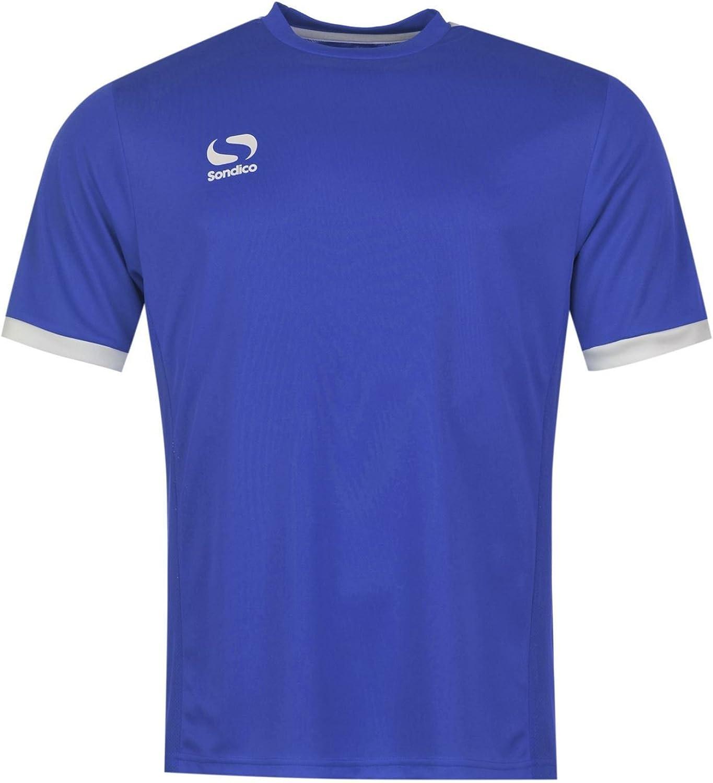 Sondico Fund Training TShirt Mens Royal White Football Soccer Top Tee Shirt