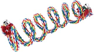 Homyl Bird Rope Bungee Toys,Parrot Toys or Large-Sized Bird Rope Perches Colorful