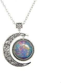 Beautiful Season DIY Galaxy Jewelry Mercury Venus Earth Mars Jupiter Saturn Neptune URAUNS Pluto Planet Pendant Necklace Gifts