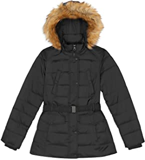 Nicole Miller Women's Plus 3X Black Faux Down Puffer Coat Anorak Parka w/Knit Cuffs & Removable Hood