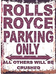 TINPLATE OLD ROLLS ROYCE SIGN