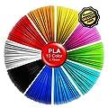 3D Pen Filament PLA Refills -3D Drawing Pen Bonus 10 Colors 5M/16 Feet Each Color,Total 164 Feet,1.75mm PLA Multicolor Filament Perfect Christmas Gift for Kids