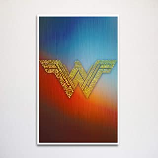 Wonder Woman logo word art 11x17
