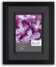 Gallery Solutions 12FW1667 Picture Frame, 8 inches x 10 inches, Black & Black