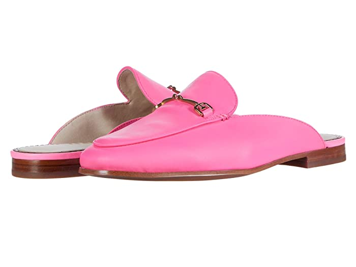 Sam Edelman  Linnie (Electric Pink Neon Nappa Leather) Womens Clog/Mule Shoes