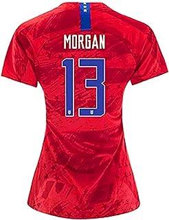 New Season 2019/2020 USA National Team Away Womens 13 Alex Morgan Jersey Color Red