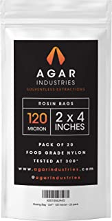 Agar Industries - Rosin Press Filter Bag - Screens for Solventeless Oil Extractions in Rosin Tech (20 pack, 2x4 in. 120 micron)
