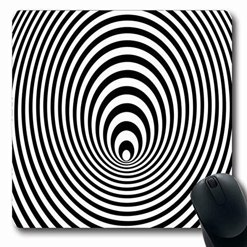 Jamron Mousepad OblongCurve Optische Täuschung Wirbelbewegungsform Papier verbinden Experiment Symbol Abstrakte Vortex-Texturen 3D Rutschfeste Gummimaus Pad Bürocomputer Laptop-Spiele Mat.-Nr.