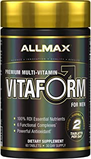 ALLMAX Nutrition Premium Vitaform, Performance Vitamin for Men, 60 Tablets