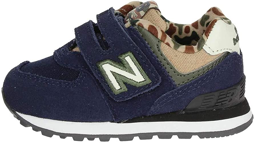 New Balance IV574 HN Blue Baby Shoes Tear Sneakers Camouflage 27.5 ...
