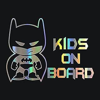 Batman and Batgirl KIDS on Board DC Comics Vinyl Vehicle Decal Sticker
