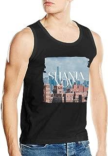 Shania Twain in Brooklyn Men's Music Band Popular Bodybuilding Tank Top Shirt Sleeveless Shirt Black
