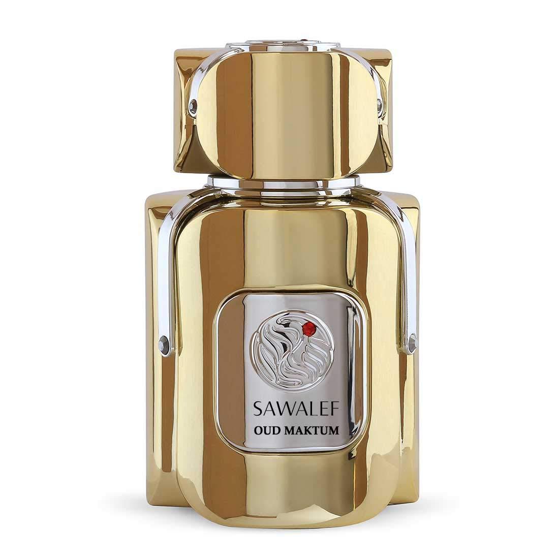 OUD MAKTUM, Eau de Parfum 80 mL from the SAWALEF Boutique Range | Unisex Oriental Oud Niche Release | Long Lasting with Intense Sillage | Perfume for Women and Confident Men | by Swiss Arabian Oudh