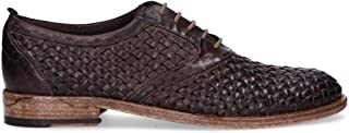 MIRAGE CALZATURE Men's 9302T Brown Leather Lace-Up Shoes