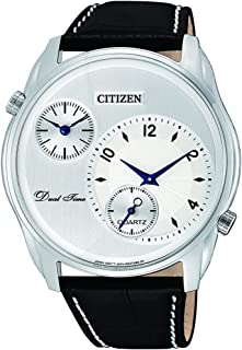 CITIZEN Mens Quartz Watch, Analog Display and Leather Strap - AO3030-24A
