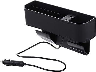 Organizador multifuncional de assento de carro Vicasky para assento de carro com 2 portas de carregamento USB (copiloto)