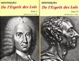 De L'Esprit DES Lois Tome 1 et 2 - Editions Flammarion