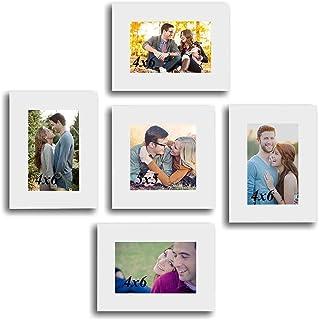Art Street Fabulous Set of 5 White Individual Wall Photo Frames