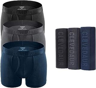 CLEVEDAUR Men's Underwear Ultra Soft Modal Boxer Briefs Silky-Smooth Underwear for Men (Pack of 3)