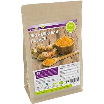 BIO Kurkuma-Pulver 750g - 100% Rohkost-Qualität im Zippbeutel - Curcuma gemahlen mit Curcumin - Premium Qualität