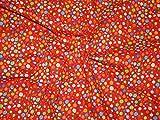 Rot & Bunt Fancy Luftballons Print Kleid Polycotton-Stoff,