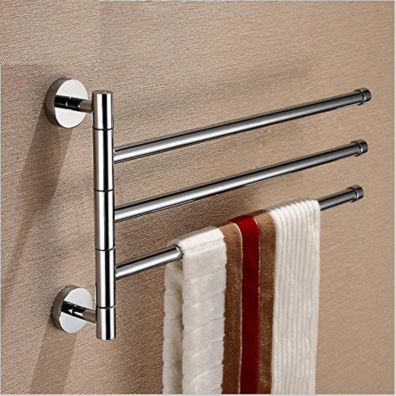 Hardwareh Full Copper Bathroom Hanger Bathroom Towel Rod Multi Function Double Rod Three Bar Pendantmodern Simple and Durable Home Decoration Classic Quality Assurance