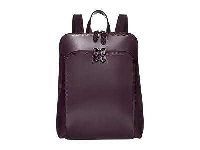 Lodis Accessories Audrey RFID Ryder Tote Backpack (Ivy/Deep Plum) Backpack Bags