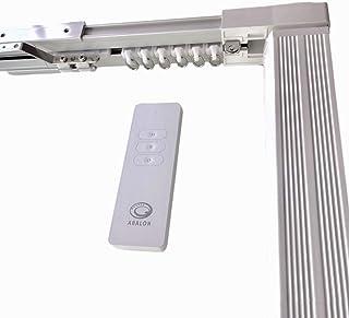 ABALON Rail motorisé pour Rideaux, avec télécommande, Aluminium, Blanc, de 1 à 3 mètres, Rail électrique, Rideau Electriqu...