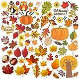 Kalolary Autunno Foglie Finestra si aggrappa il Ringraziamento Acero Ghiande Decorazioni Autunno Finestra Sticker Decalcomanie Decorazione Festa