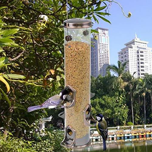 MISS YOU Comedero para pájaros Productos comestibles de alimentación de Aves se alimentan comederos de Aves Palomas Comer al Aire Libre Cajas de comederos de Aves Que cuelgan Caja de Comida a través
