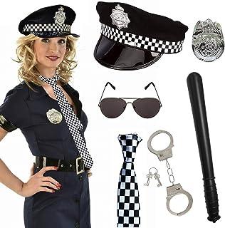 SPECOOL Disfraz de Policía de 6 Piezas para Fiesta de