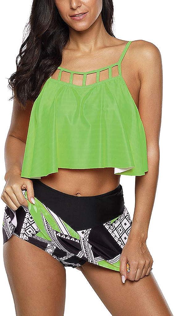 Womens High Waisted Bikini Nashville-Davidson Mall free Swimsuit Shorts Vintage Top T Ruffled