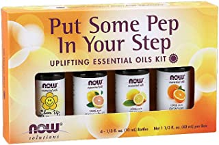 NOW Solutions Put Some Pep in Your Step Essential Oil Kit, Set of 4 x 10 ml