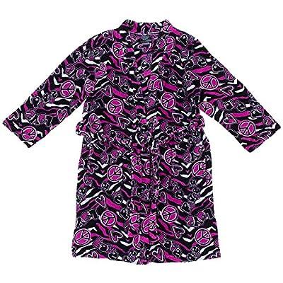 Fancy Girlz Fuchsia Zebra Print Fleece Bathrobe for Juniors