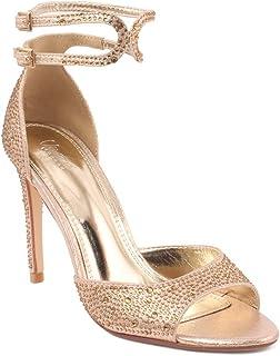 Women/'s Wedding Party Evening Stiletto Heel Crystal Sandals Judy By Bella Luna