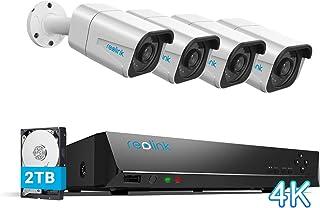 Reolink 4K Sistemas de Cámara Vigilancia PoE Exterior, Kit de Cámara Seguridad con 4X 8MP Cámaras IP PoE y 8 Canales 2TB H...