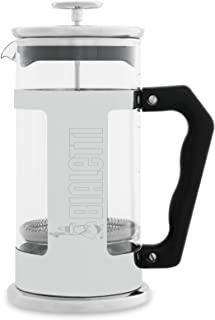 Bialetti 06704 12-Cup French Press Coffee Maker, Stainless Steel, Silver