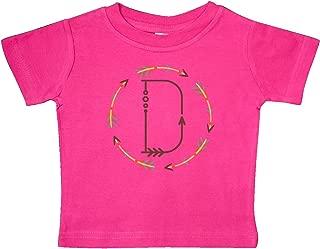 inktastic D Monogram Letter Tribal Wreath Baby T-Shirt