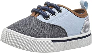 OshKosh B'Gosh Kids' Christi3, Blue Canvas Sneaker 3 US M Youth