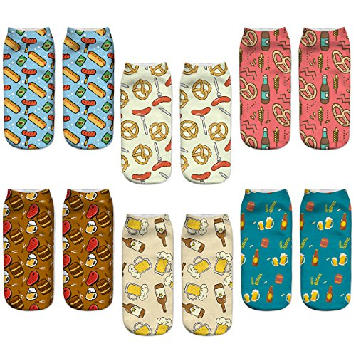 Girl's Womens Cute Funny Crazy Novelty Cool Cartoon Adorable Casual Ankle Socks