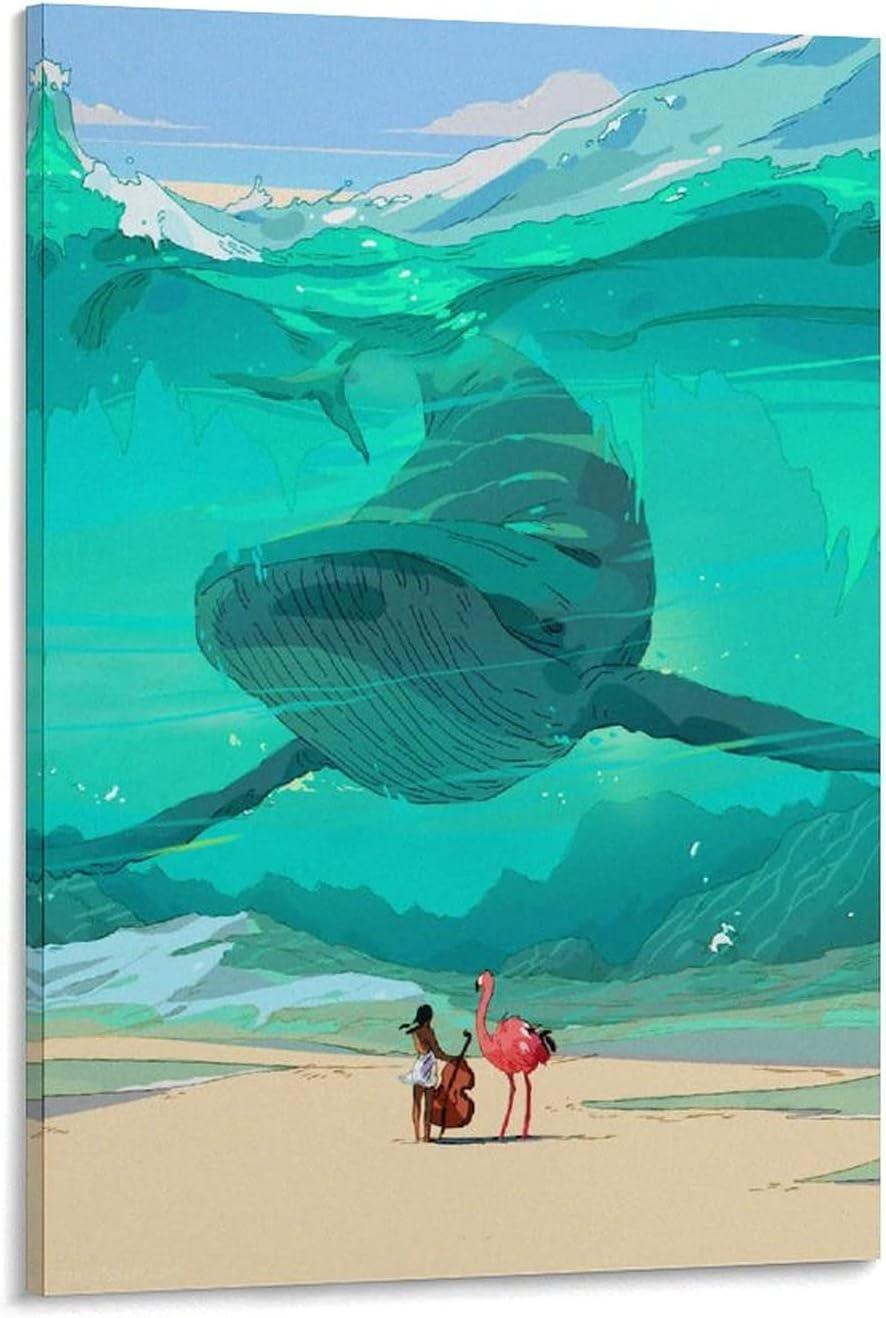 Choice Deep Sea Giant Whale AnimeHigh-end Poster Custom Max 60% OFF Private Decorat