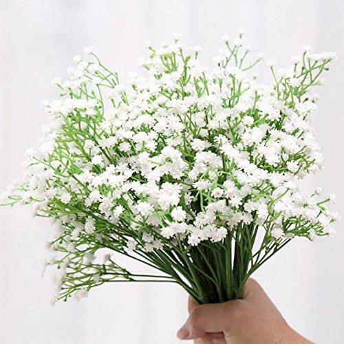 MEIWO 5 Pcs Real Touch Latex Künstliche Gypsophila Paniculata Blume Für Zuhause Hochzeit Party Dekor Arrangement