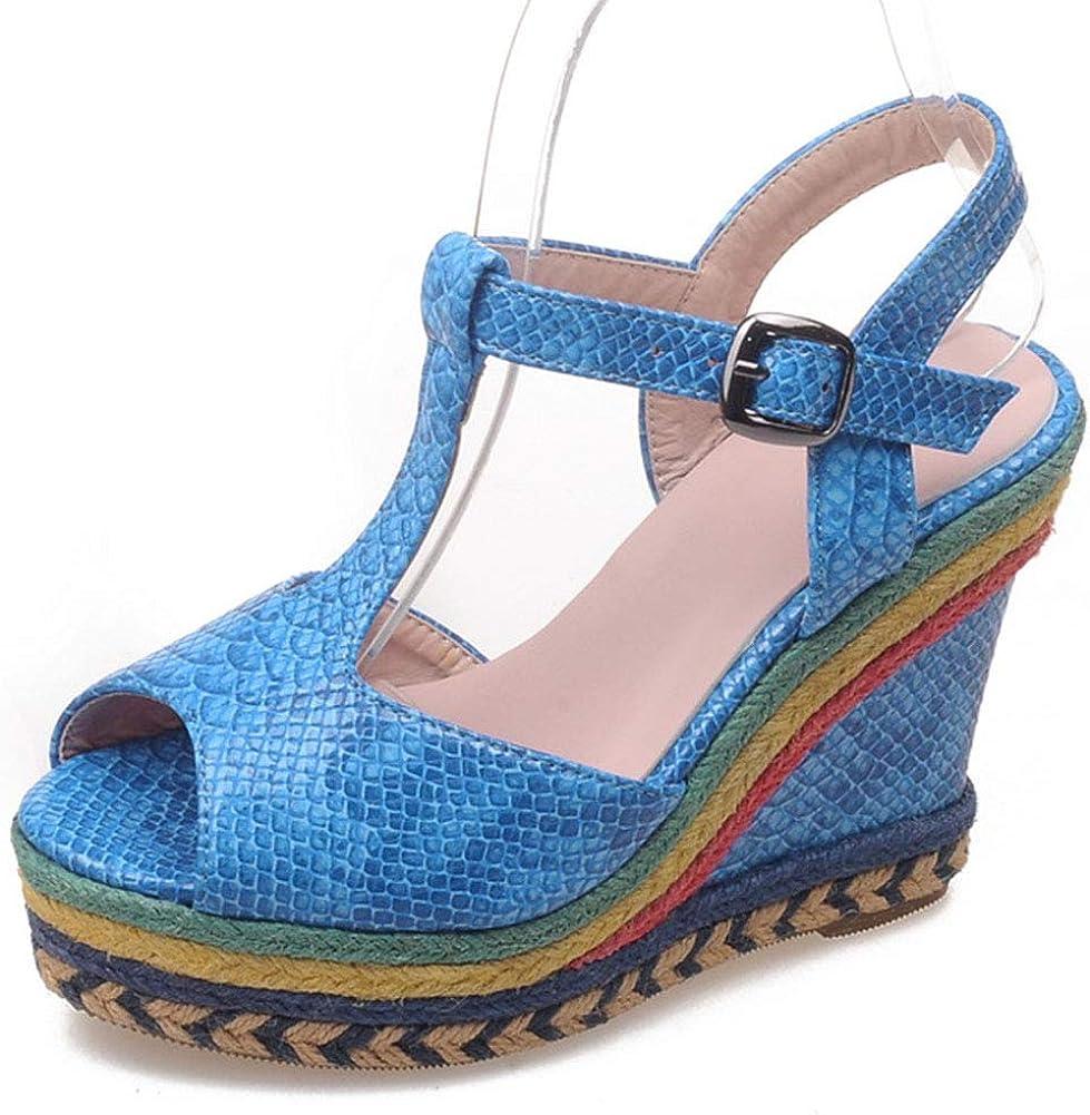 Vimisaoi Wedge Sandals for Women Espadri Super sale sale period limited Multicolor Strap Ankle
