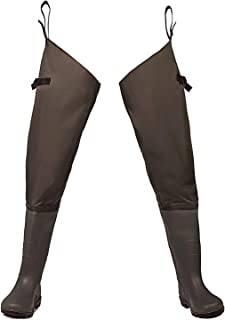 Fishing Hip Wader Waterproof Lightweight Waders Hip Boots with Cleated Outsole for Man Women