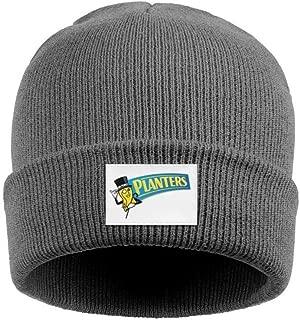 Mr. Peanut Logos Acrylic Knit Hat Winter Warm Cuffed Thick Skull Cap Unisex
