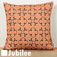 クッションカバー jubilee ジュビリー オレンジ ドット (CC007) 北欧 45×45cm リネン 天然 麻 高品質 ハンドメイド ※中身別売り