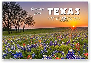 GREETINGS FROM TEXAS postcard set of 20 identical postcards. TX post cards. Made in USA.