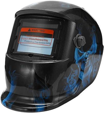 antisalpicaduras de residuos de soldadura Chnrong l/ámina protectora exterior Lente del casco para soldar protecci/ón anti-UV antiarco l/ámina protectora para casco para soldar