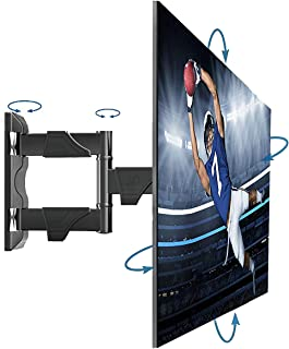 Full Motion TV Wall Mount for Most 32-55 Inches Computer Monitors and TVs,Adjustable Tilting, Rotating.Weight up to 60lbs ...