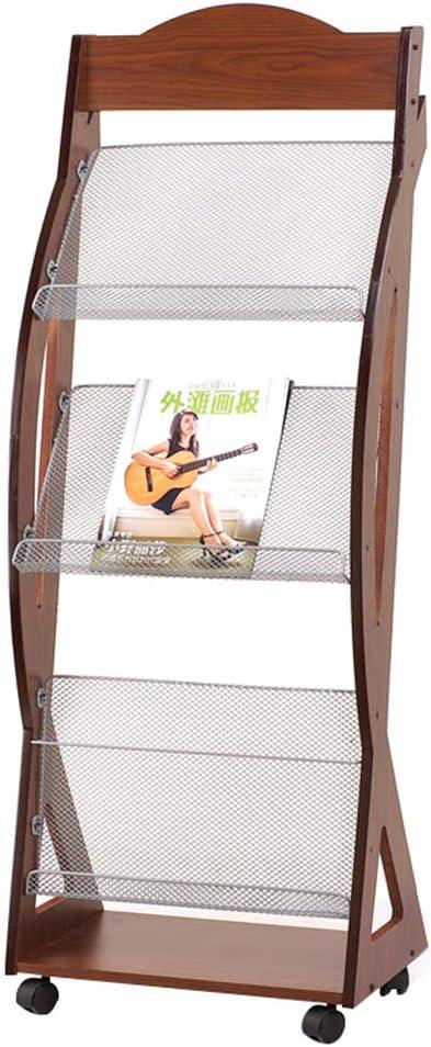 Magazine Soldering Rack 3 Floor Office Simple Information Max 67% OFF Shelf